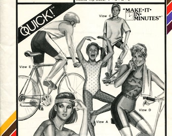 Vintage 1988 Stretch & Sew 312 Yoga Dance Tights and Biking Pants or Shorts Size 6 to 20 UNCUT