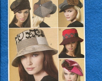 Vogue 8681 Newsboy Beret & Fly Fisherman Hats for Women