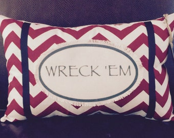 "Texas Tech ""Wreck 'Em Pillow"