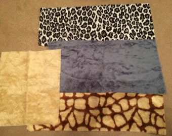 Animal Print and Plain Mixed Fun Fur Destash!