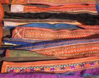 Tribal Textile Upcycled Supply Pieces 6 pr Small Strap