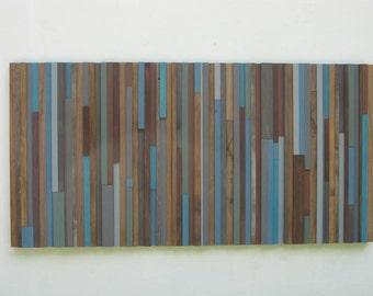 Wood Wall Art,Modern Wood Sculpture, Reclaimed Wood Wall Art, Abstract Painting on Wood, Wall Art, Rustic