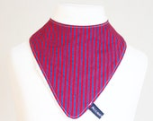 Red and blue stripes dribble bib