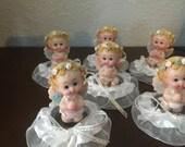 12 favors Baby Shower Favor, Baptism Favor, Table Decorations, First Communion Favor, Angel Favor, Baptism Decoration, Narelo