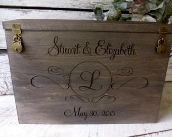 Wedding Wine Card Box, Wine Box, Card Box, Rustic Wedding Wine Box, Rustic Wedding Card Box, Barnwood Inspired Wine Box
