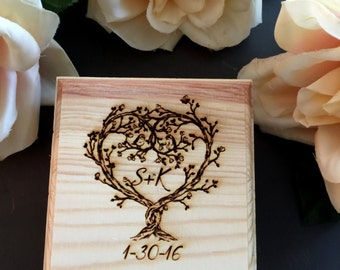 Ring Box, Wedding Ring Box, Personalized Ring Box, Ring Bearer, Bride and Groom, Love Birds