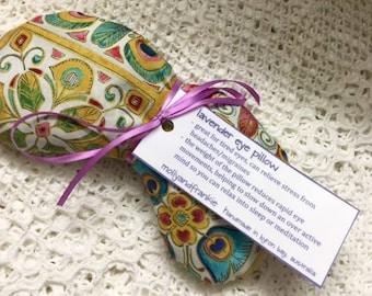 Lavender eye pillow / yoga / meditation / relaxation / cotton fabric