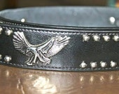 Vintage Leather Eagle Belt