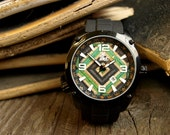 Gifts for Men -   Recycled Skateboard Wood Watch - Made in Canada