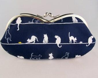Gift for Cat Lover - Soft Eyeglass Case - Eye Glass Case - Sunglasses Case - Cute Glasses Case - Sunglass Case - Glasses Case Kiss Lock