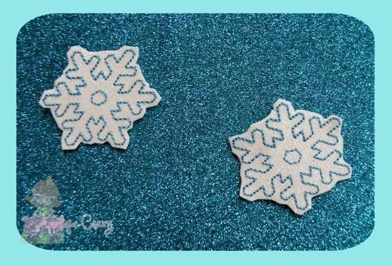 Snowflake feltie Embroidery design