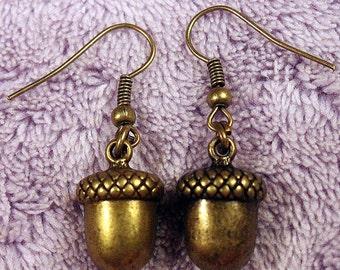Bronze Acorn Nut Earrings