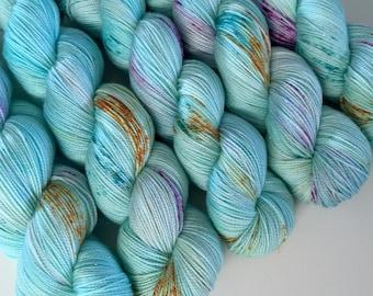 sparkle {sock} | URCHIN | ready to ship | hand dyed yarn | merino nylon stellina