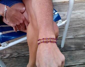Size 6 .5 Swarvoski pearls and crystals bracelet.