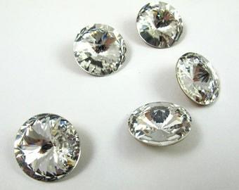 Vintage Swarovski Crystal Rivoli, Crystal 18mm, DIY Jewelry