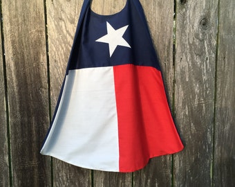 TX Flag Cape - Handmade and Reversible