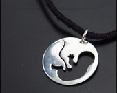 In the Womb - Sterling silver pendant