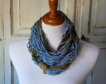 Fiber Art Raw Silk Necklace