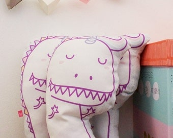 Unicorn Dino pillow big