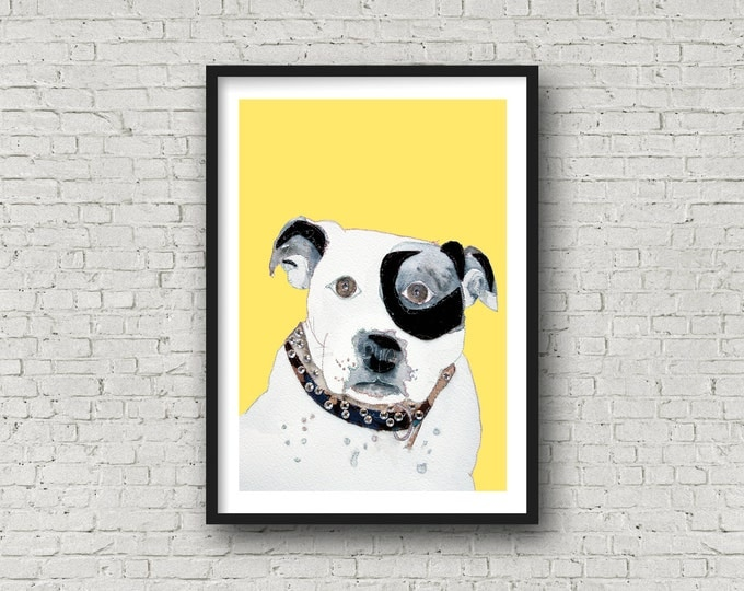 Dog - Staffordshire Bull Terrier - Print - Free UK Delivery