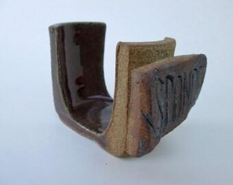 Red Handmade Ceramic Sponge Holder