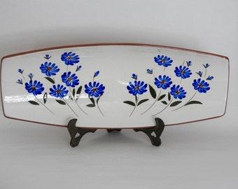 Spangl Pottery Serving Tray- Chicory Pattern
