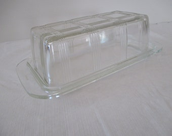 Vintage Pyrex Clear Glass Refrigerator Dish