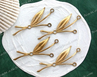 Leaves,Vintage Style,Supplies,Scrap booking,Collage,Craft Supplies,Jewelry Supplies,Made in USA,Wedding Supplies,Brass Leaves, STA-249