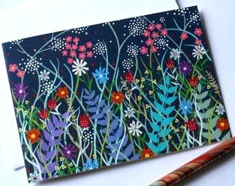 Midnight Meadow - Blank Greetings Card