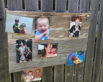 Rustic Barnwood - Photograph Memory Board