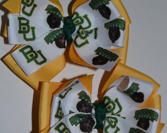 Set of Two Baylor Bears Hair Bows