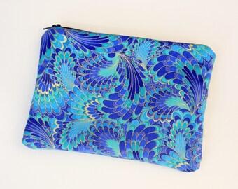 Marbled Peacocks Cosmetics / Make up Bag