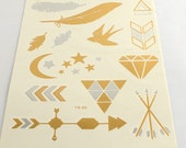 Gold Foil Tattoo Sheet