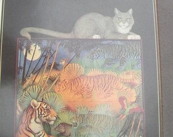 TIGER and CAT Print  by  Carol Lawson