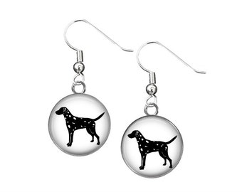 Dalmation Dog Button Earrings