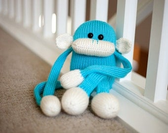 Monkey Stuffed Animal Plush Toy: Jerry the Amigurumi Monkey