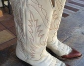 Vintage NOCONA BOOTS womens 7B Made in USA Cowboy Western