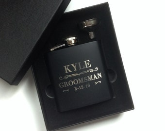 Groomsmen Gift Engraved Hip Flask Personalized Best Man