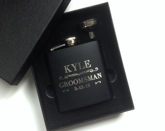 Groomsmen Gift, Engraved Hip Flask, Groomsmen Flask, Personalized Flask, Best Man Gift, Bridal Party, Wedding Party Gift, 1 Flask
