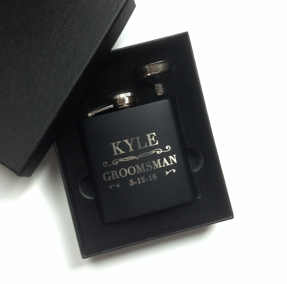 Groomsmen Gift Engraved Hip Flask