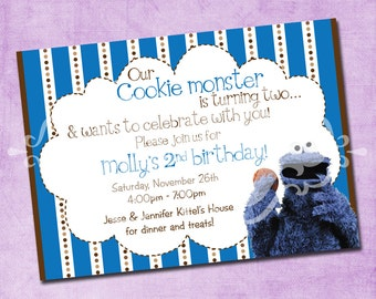 Cookie Monster Birthday Invite