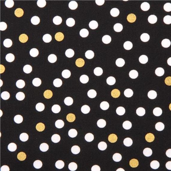 polka dots metallic gold polka dots timeless treasures. Black Bedroom Furniture Sets. Home Design Ideas