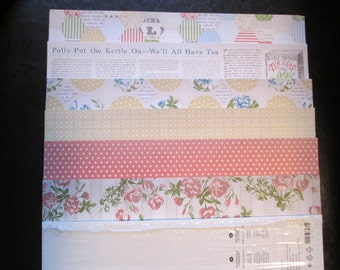 TEA FOR TWO - Designer Series Paper - Stampin Up Retired