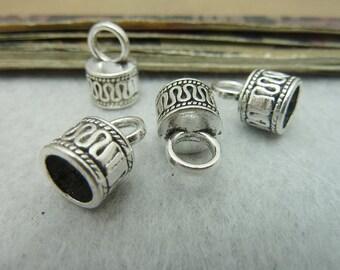 30pcs 10*15-7mm antique silver bead cap C6403