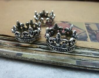 20pcs 16*16*10mm antique silver crown charms pendant C7908