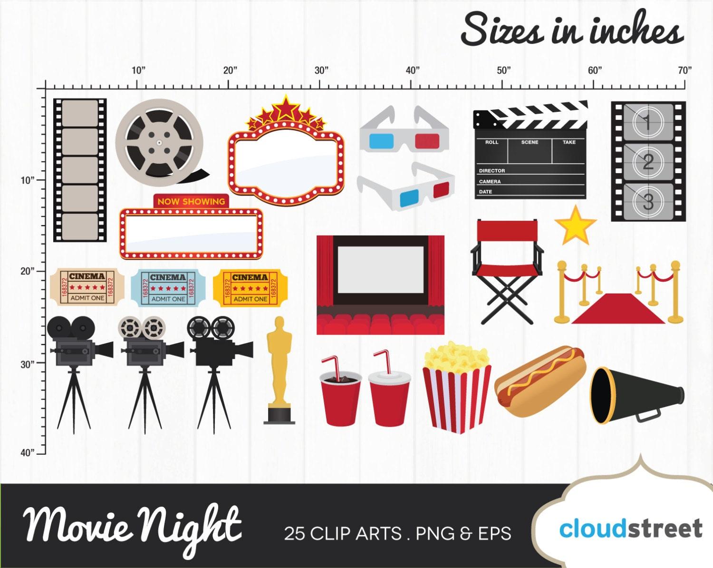 Free movie night clipart