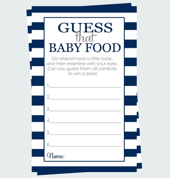 Comprehensive image with guess the baby food game printable