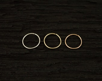 Extreme thin and Extra small Sterling silver nose ring-seamless-catchless tragus /helix /nose ring