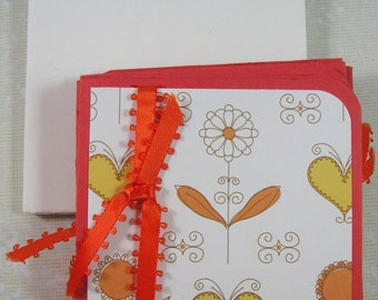 3 x 3 Mini Card Set - 12 Cards and Envelopes, Gift cards, Lunch box cards
