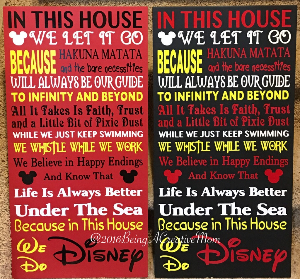 In This House We Do Disney Handmade Wood Sign